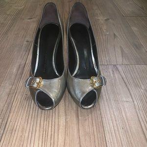 Giuseppe Zanotti Gun Metal Peep toes size 40